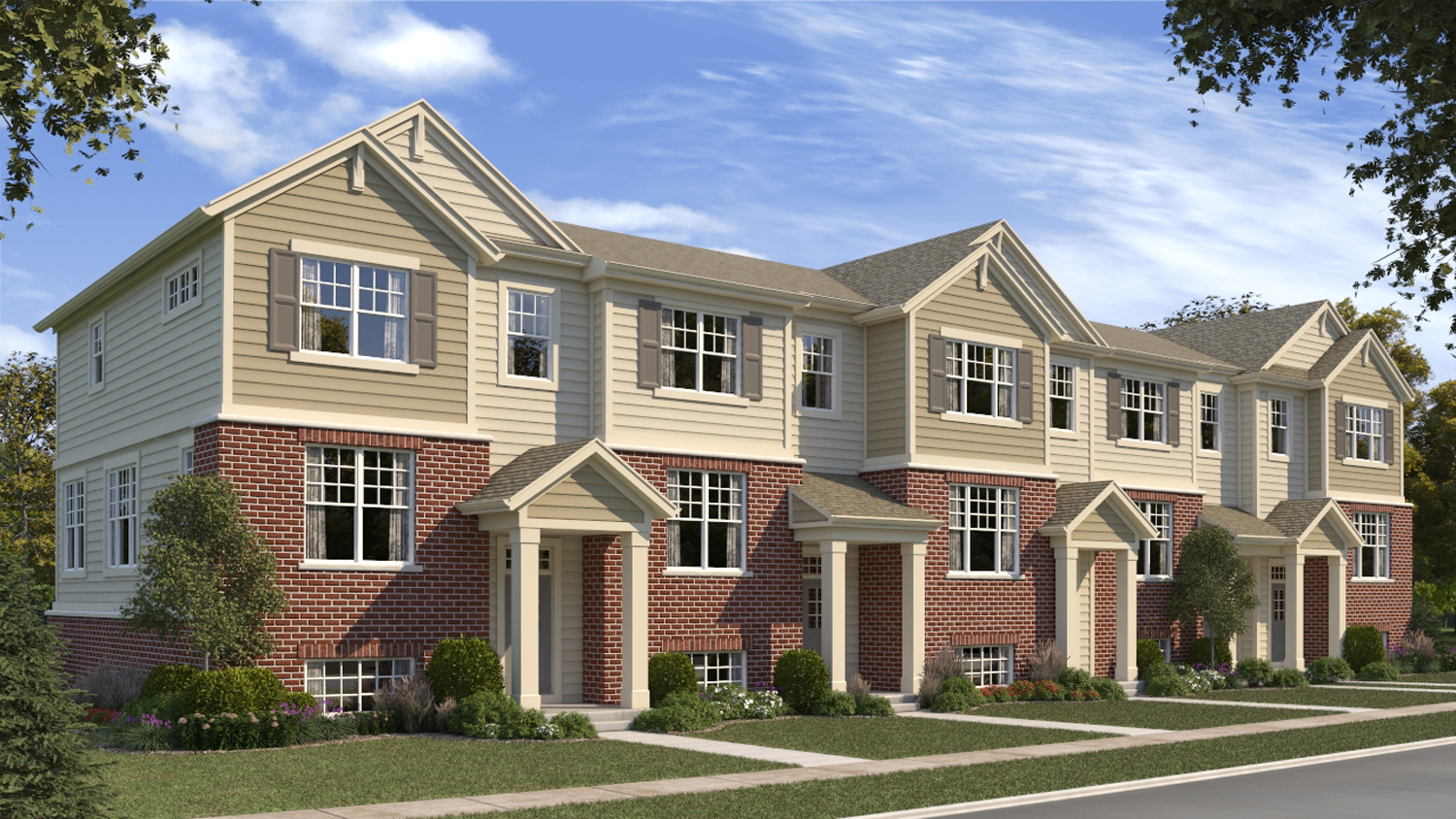 Lexington homes kicks off sales for lexington crossing for 3 story townhomes