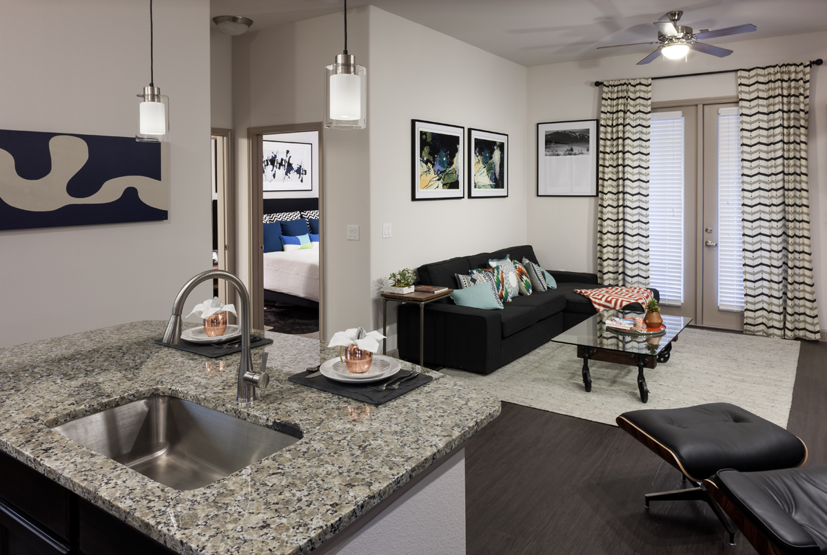 Construction complete model homes open at alexan auburn for The model apartment