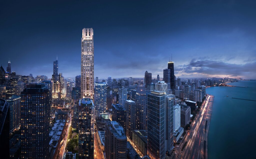 With 69 condominiums on levels 41 through 66, and 279 apartments on its lower floors, One Bennett Park will be Chicago's tallest all-residential tower upon completion in early 2019.